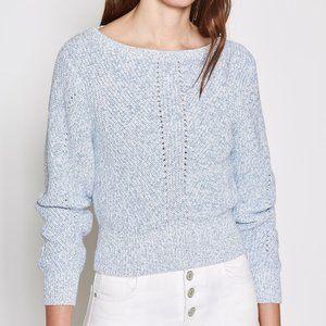 NEW Joie Verlene Cotton & Cashmere Blue Sweater